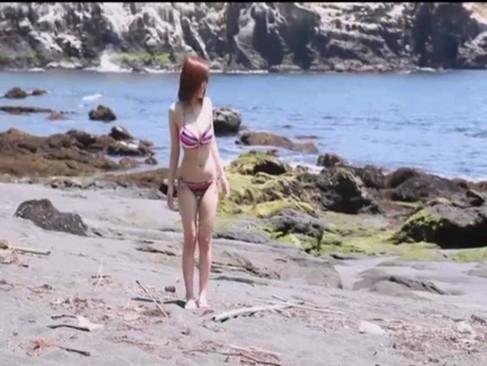 ムチムチ美巨乳の大島あいると青姦プレイで濃厚SEX!