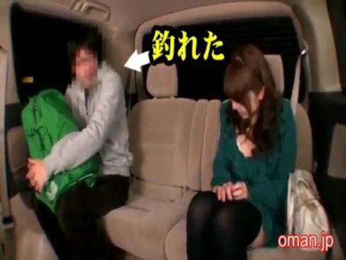素人男を逆ナンパして車内で手コキ&フェラするとかいう神企画!