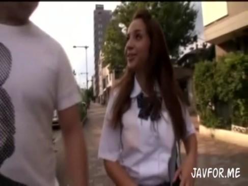 南米系ハーフの素人女子校生をナンパして巨乳を堪能ハメ撮りSEX!