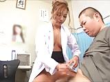 インポ治療に来た患者を淫語と手コキで勃起させザーメン搾取するヤリ手の痴女医w