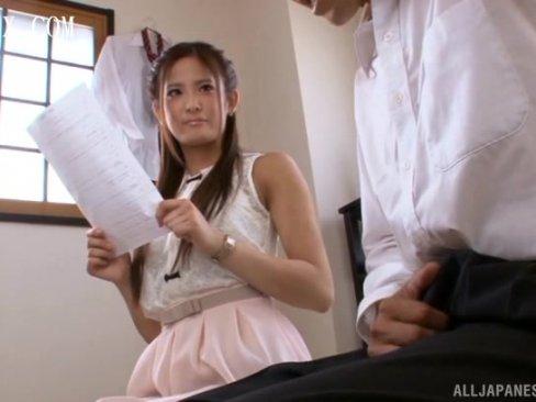 美人家庭教師の川並舞夏がM男生徒に目隠し痴女プレイw