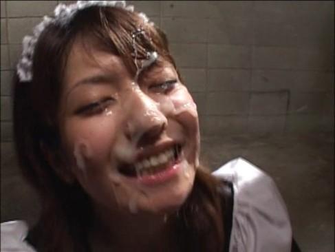 「ww!快ッ感!!w」ぶっかけ本気汁を浴びて昇天するメイド風美少女