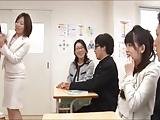 PTAの変態奥様たちが男子生徒の成長確認の為に集団フェラ開始w