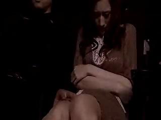 映画館で痴漢されて強制イラマチオさせられる人妻!