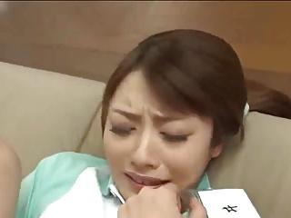 ホームヘルパーの桜井あゆが美人すぎてレイプする!