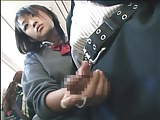 通学電車で痴女JKが校内一のイケメン男子を手コキ抜き