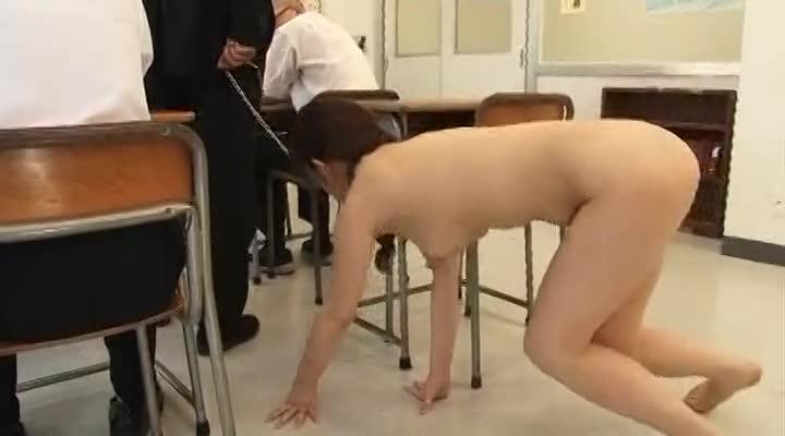 浣腸調教恥育されながらフェラチオする変態女性教師