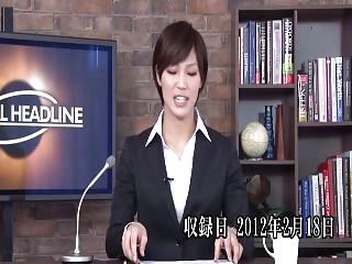本田翼似の美少女アナウンサーに本番中に大量顔射!