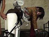 巨乳ハーフ美少女が進撃の巨人のミカサコスプレでアナルSEX!