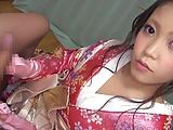 花魁コスのロリ美少女が手コキフェラでご奉仕しちゃうっ!