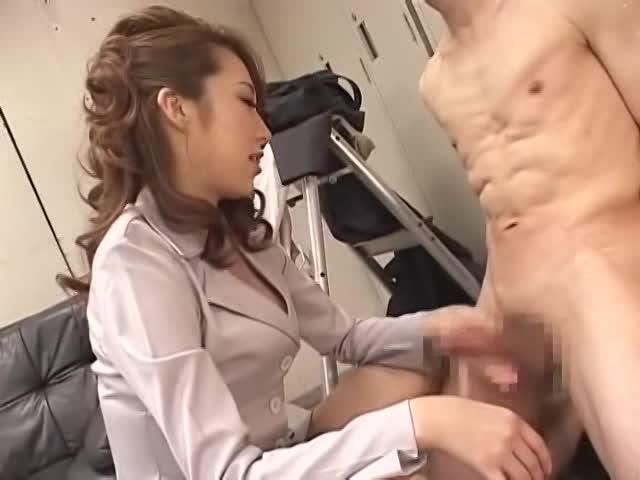 M男必見!S的痴女の上司OLが淫語で手コキキタ━(゚∀゚)━!!