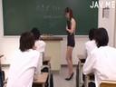 巨乳女教師が生徒の言いなりになってフェラを強要され口内射精!