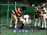 ラグビー部の巨乳マネージャーが部員に集団青姦され中出しされる!