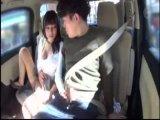 人妻達と車内でイチャラブしてからラブホへ