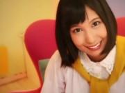 笑顔がキュートな湊莉久ちゃんに特濃ザーメン大量ぶっかけ!