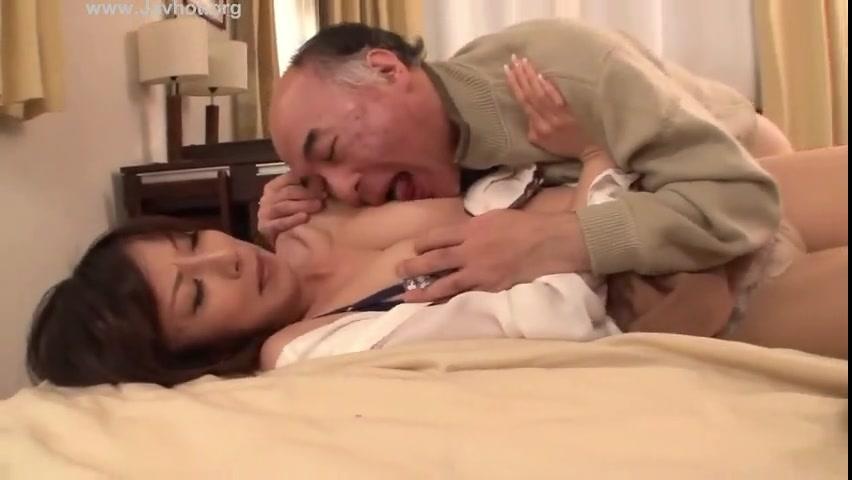 「義父さん!ダメです!」ボイン人妻が押し倒されあっさり膣内射精近親相姦受け入れw