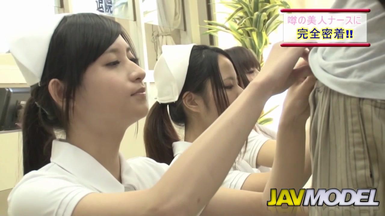 天使すぎる美人ナースが患者チンポをフェラ抜き搾精!
