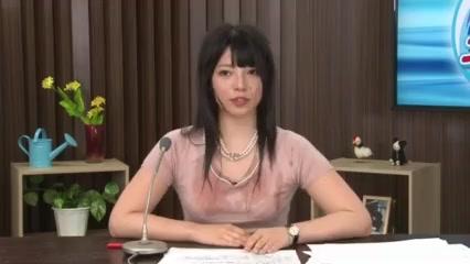 生放送中のお天気お姉さん上原亜衣に後ろからチンポをぶち込む!