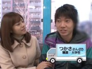 【素人】神女優・瑠川リナちゃんがファンを逆ナン→日頃の感謝を込め即尺フェラ抜き!