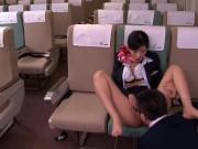 CAさんが極上ご奉仕してくれる航空会社!男性しか利用しなさそう!! 麻生希