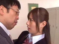 補習中に教師のチンポをご奉仕しちゃうヤリマン女子高生