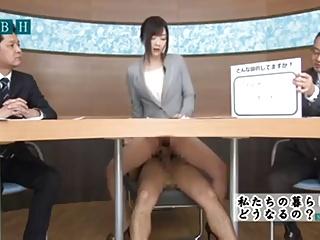 обожал ебут японскую телеведущую миссис