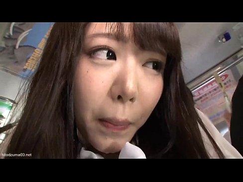 【浜崎真緒・痴漢】こんな可愛いのに… 爆乳美少女がバスの中で痴漢されてまう【主観】