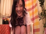 黒パンストのJSが可愛いお口でフェラチェックのワンピの胸元はだけて中出の美少女動画