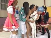 【乱交エロ動画】コスプレ美女達と大乱交大会w