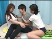 清純そうなJC?JKがM字開脚でおまんこを舐め合う変態レズ行為の学生系動画