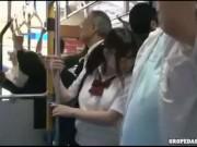 [ロリ ロリJK バス レイプ 中出し 種付け]メガネロリをバス内レイプ!見かけによらず爆乳なJKに中出し種付け