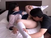 花も恥じらうお年頃の女子高生がマングリ返し状態のおっさんのアナルを舐め回すの学生系動画