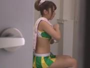 激カワチアリーダー美少女が更衣室で薄毛まんこを好き放題舐めさせてくれる