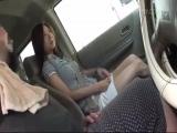 素人妻と車でデートからのセックス